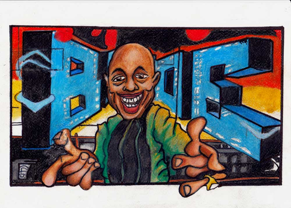 Blade graffiti drawing
