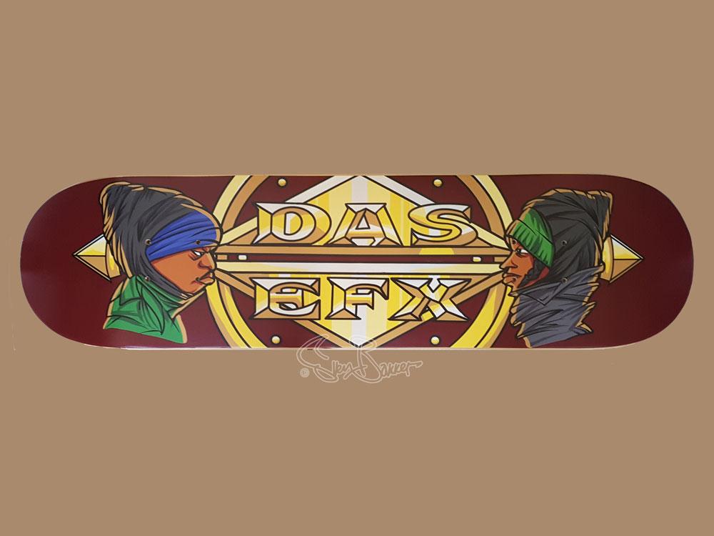 Das Efx skateboard hiphop tekening/kunst Skoob & Crazy Drayz Sven Bakker