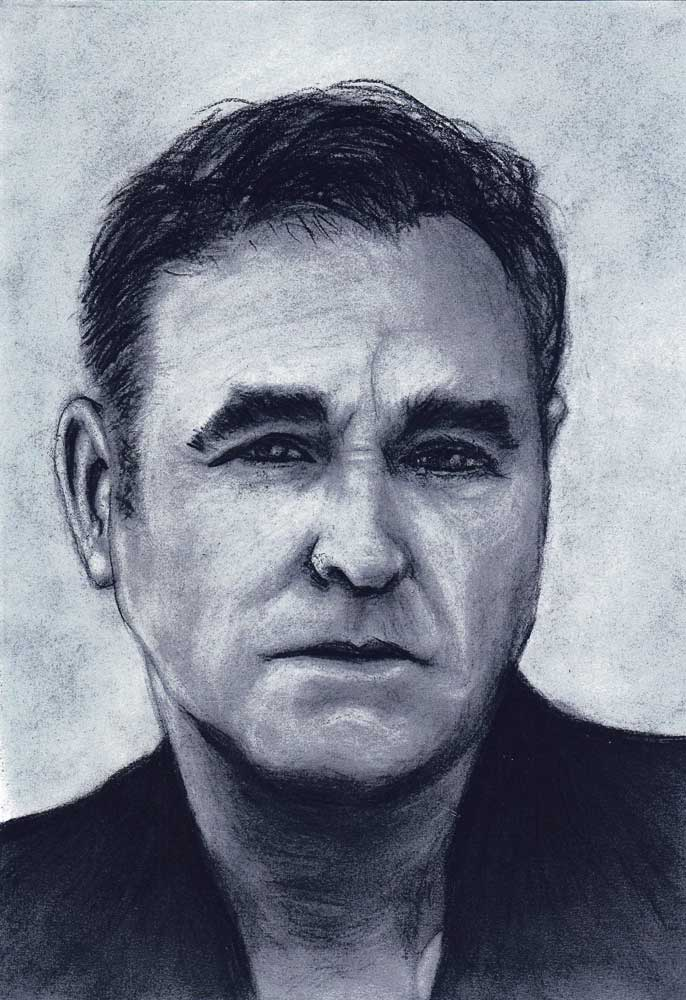 Morrissey charcoal drawing (Sven Bakker)