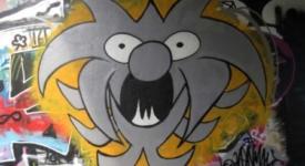 Derde Svenimal graffiti Amsterdam (Sven Bakker)