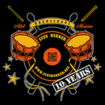 Officiëel logo voor 10 jaar Drumschool Sven Bakker